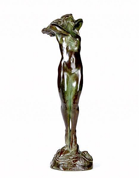 Bonnie MacLeary (American, 1890-1971) Ectase, 1929; Bronze; Signed and dated