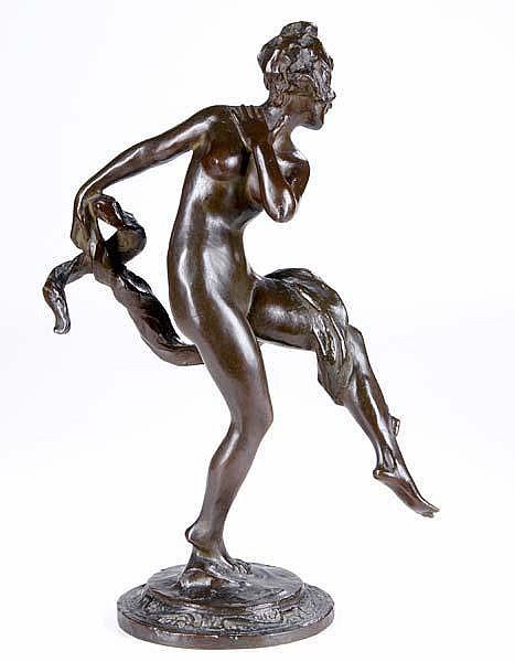 Robert Ingersoll Aitken (American, 1878-1949) Untitled (Nude Dancer); Bronze; Signed