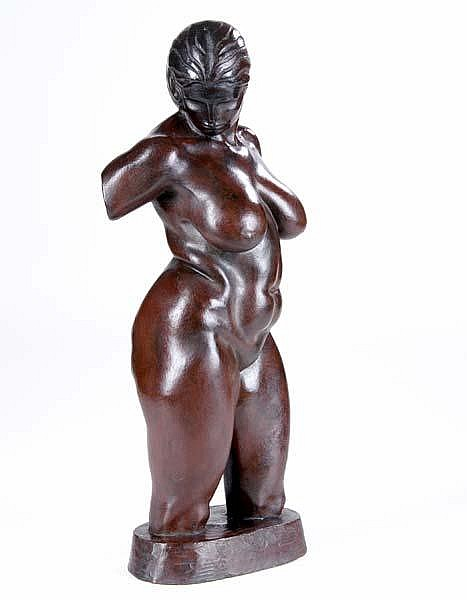Brenda Putnam (American, 1890-1975) Untitled (Female Torso), 1928; Bronze; Signed and dated
