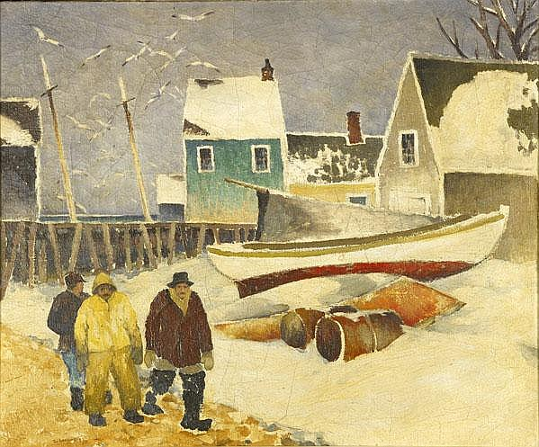 Tod Lindenmuth (American, 1885-1976) Along the