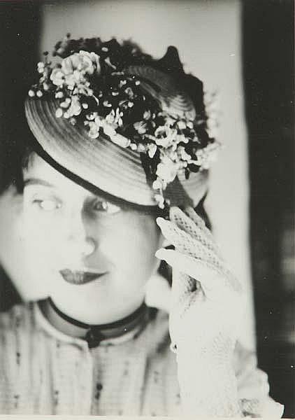 Werner Rohde (German, 1906-1990) Woman with Hat, ca. 1929; Gelatin silver print; Artist's studio stamp; 6 7/8