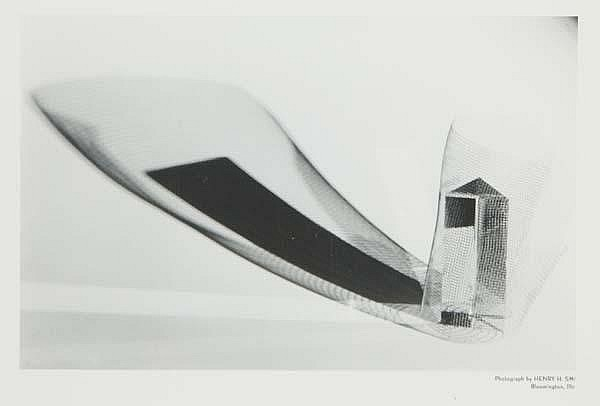 Henry Holmes Smith (American, 1909-1986) Three works of art: Light Abstraction, 1946; Gelatin silver print; Artist's studio stamp; 8 1/8