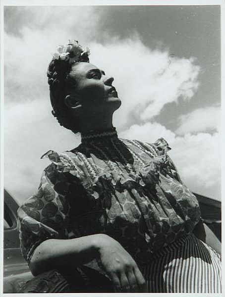 Leo Matiz (Colombian, 1917-1998) Two works of art: Frida Kahlo, 1946; Gelatin silver print; Signed and numbered 32/37; 14