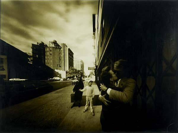Barbara Ess (American, b. 1948) Three works of art: Untitled (The Kiss); C-Print (framed); 29 1/2