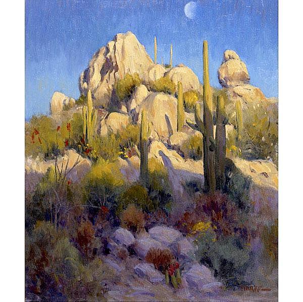 Phil Starke (American, b. 1957) Moonlit Desert;