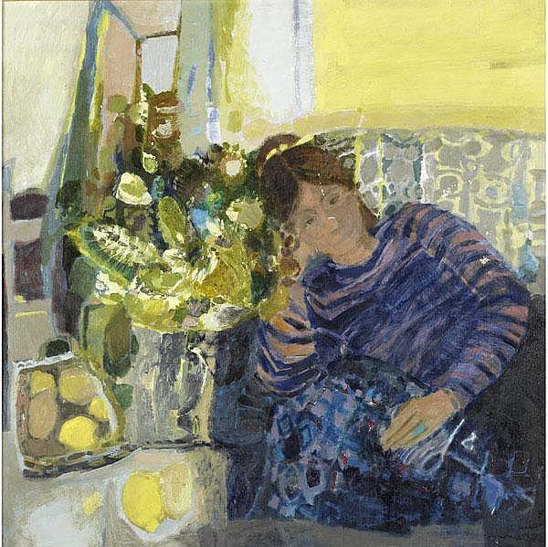 Monique Journod (French, b. 1935) Reclining Girl;