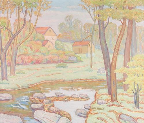 Joseph B. Grossman (American 1889-1979) Country Landscape, Oil on canvas, framed, Signed J. Grossman lower right. Provenance: family of the artist. 36