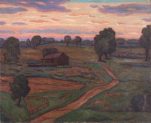 Joseph B. Grossman (American 1889-1979) Sunset, Oil on canvas, Signed J. Grossman lower right. Provenance: family of the artist. 24