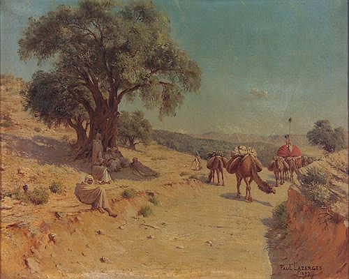 Paul Lazerges (French 1845-1902) Orientalist Landscape -