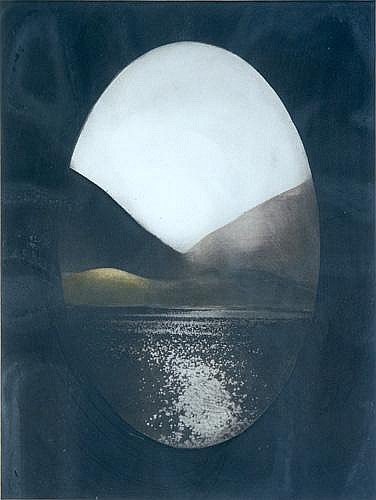 Norman Ackroyd (British, b. 1938); Two Works of Art: Study of Hills and Water, 1977; Aquatint on paper