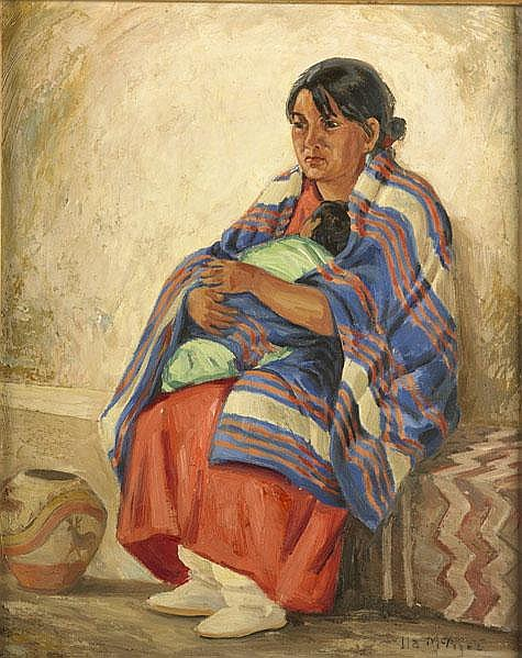 ILA MAE MCAFEE (American, 1897-1995); Oil on