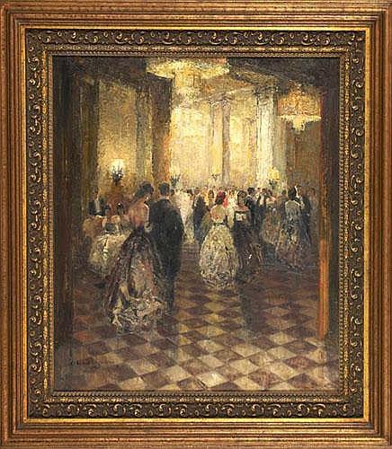 LUDWIG GSCHOSSMANN (German, 1894-1988) Ballroom