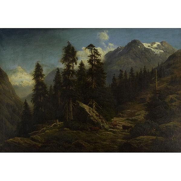 GEORG ENGELHARDT (German, 1823-1883); Oil on