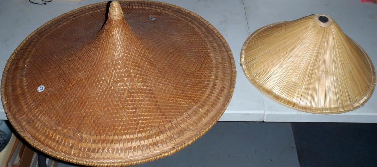 (2) Vintage Large Japanese Straw Hats