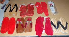 (8) Sets of Geisha & Japanese Slippers