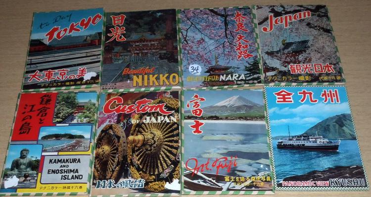 (8) Packs of Early Japanese Post Cards