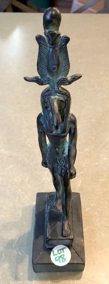 Bronze Statue of Egyptian god Signed Thoth