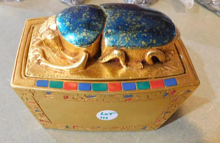 Coffin Jar with Scarab Beetle