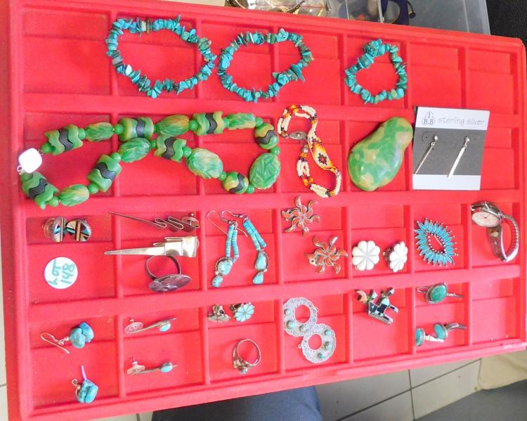 (34) Pieces of Southwest Indian & Mexican Jewelry