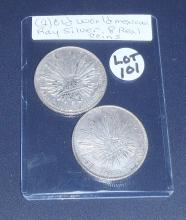 (2) Old World Mexican 8 Reales Silver Coins: 1882 & 1894
