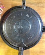 Lot 12: JULY 1893 GRISWOLD #8 WAFFLE GRIDDLE & STAND
