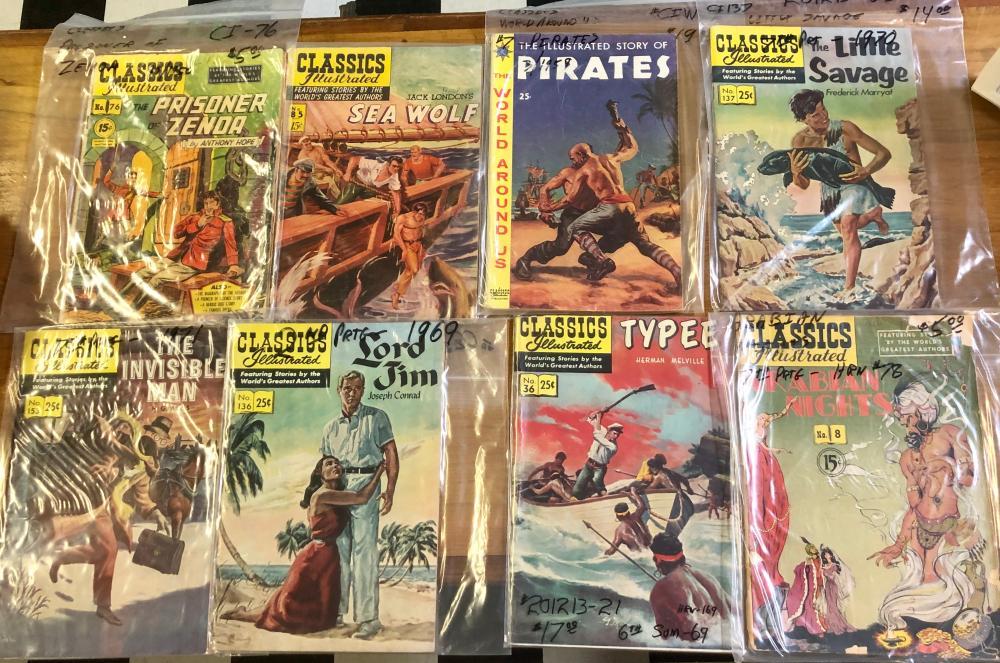 (8) 1960'S 15 & 25 CENT CLASSICS ILLUSTRATED COMICS