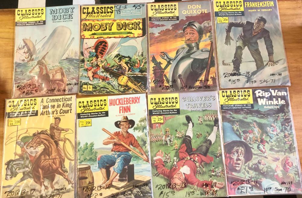 (8) 1960'S 15 & 25 CENT CLASSICS ILLUSTRATED COMICS-CHILDREN'S STORIES