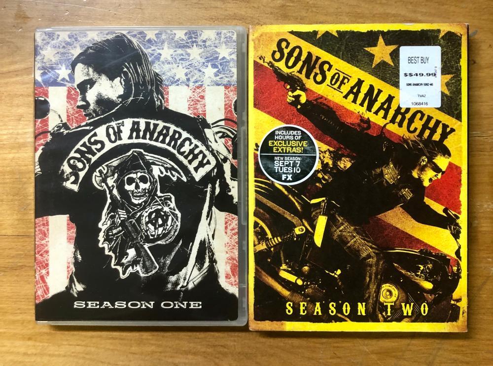 2009 & 2010 20TH CENTURY FOX & FX SON'S OF ANARCHY 98) DVD SET OF SEASON 1 & 2
