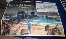 1944 U.S. Navy Dispatch Folding Poster