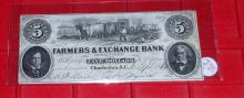 1861 Rare Confederate South Carolina $5 Note