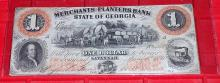 1859 Confederate $1 Note