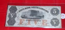 1860 Confederate $5 Note