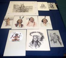 (10) American Indian Art Pieces by W.D. Cain