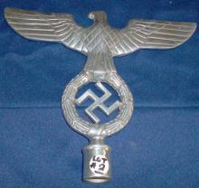 German nazi flag pole topper w/eagle