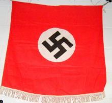 Nazi window flag w/swastika