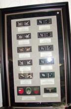 Framed German Waffen SS patches