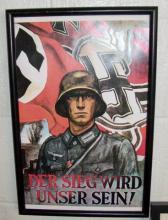 framed poster of German soldier