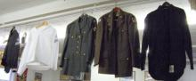 5 WWII American military uniforms