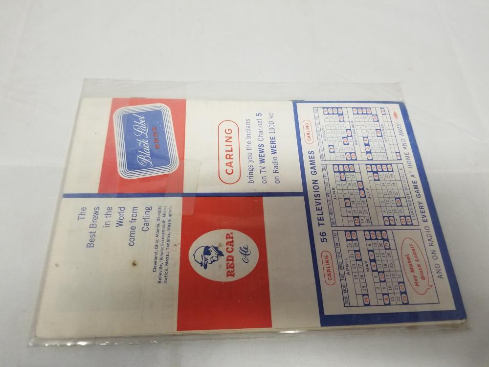 Cleveland Indians Baseball 1960's Score Card Unused