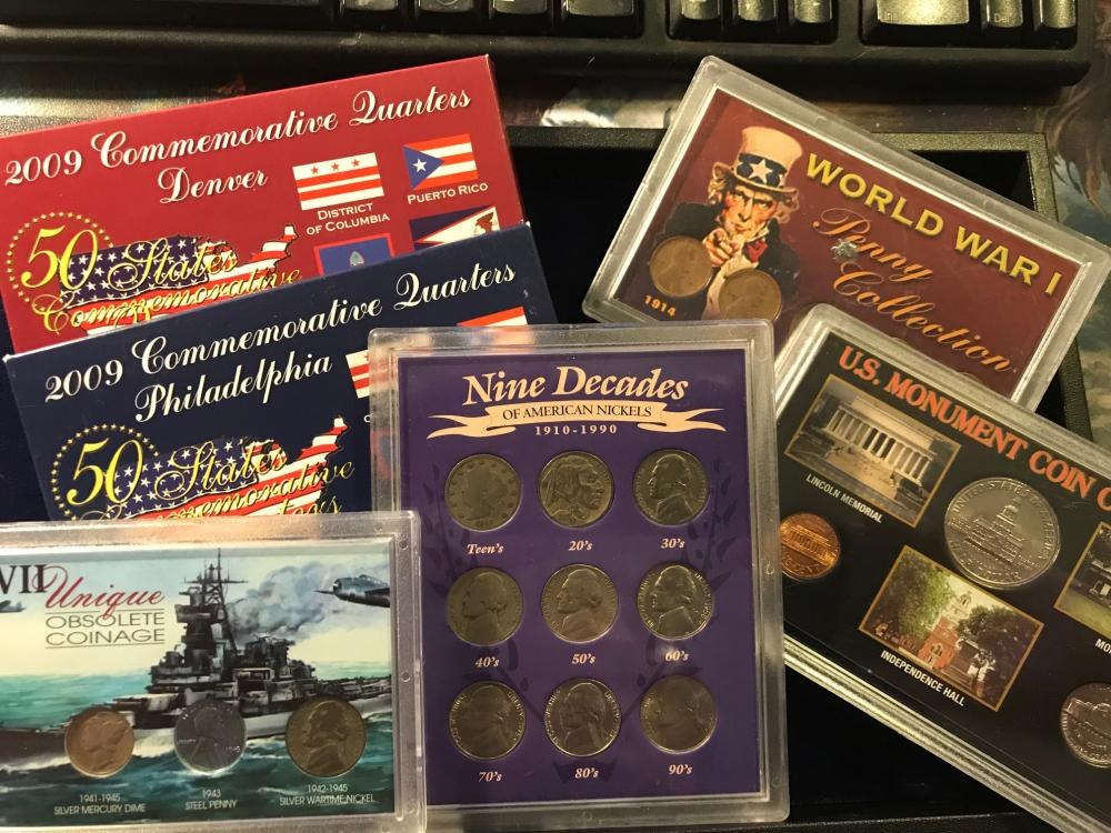 6 SETS COLLECTOR COINS WWI, WWII AND MORE