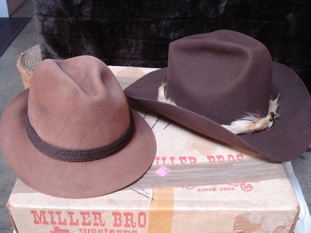 9f90035d0c529 Miller Brothers XXX Beaver Western Hat in Box