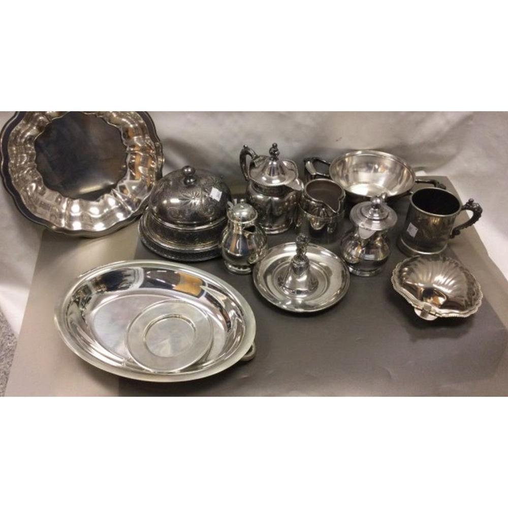 Silver Plate Serving Pieces, Queen Art, Monarch