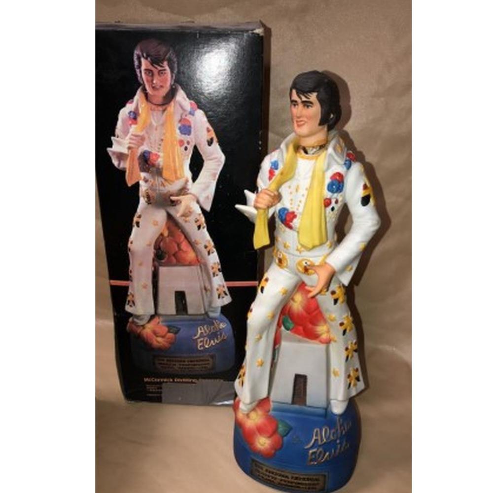 Aloha Elvis Collector Decanter w/ COA