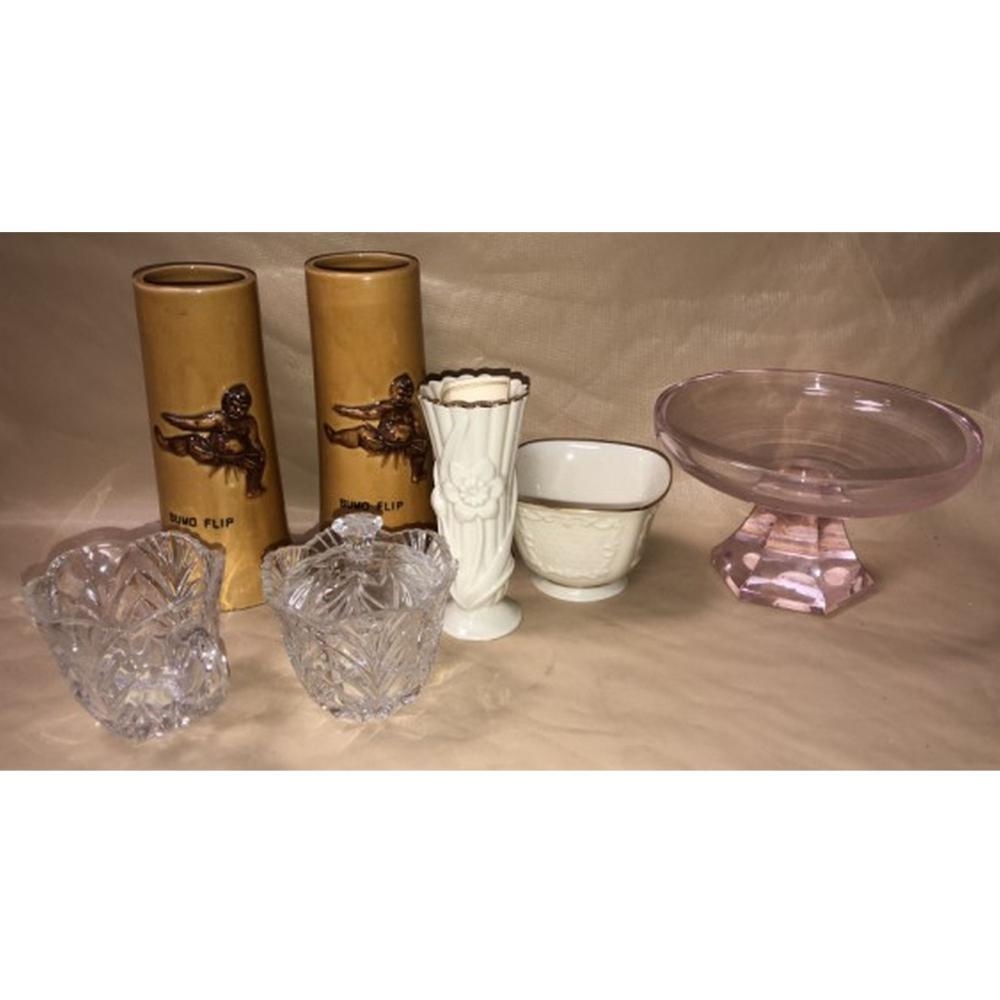 Lenox Sugar Bowl, Miyako Hotel San Francisco Glass-