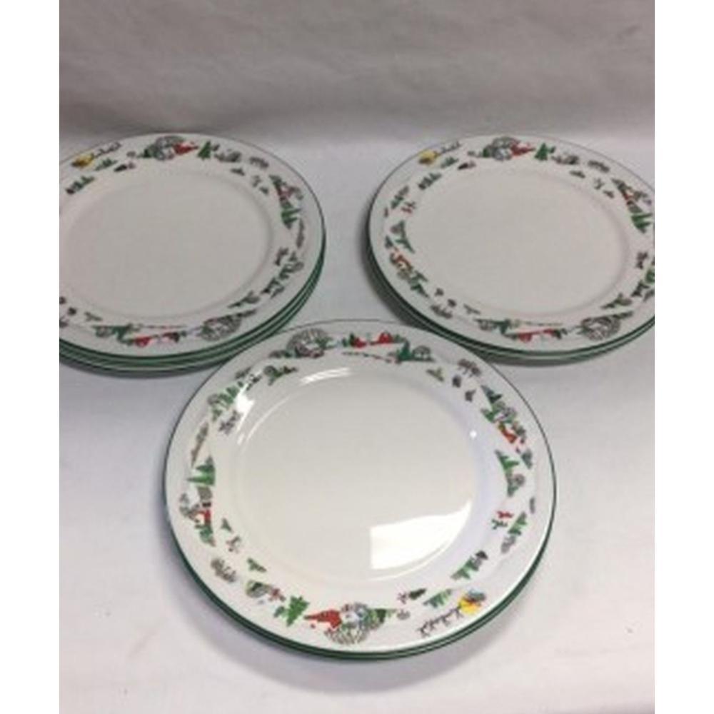 Lenox Sleighride China Dinner Plates(set of 7)