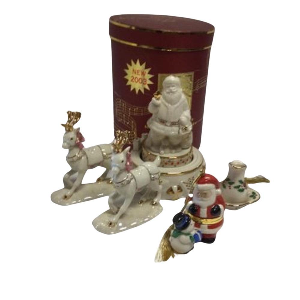 2003 Lenox Santa Christmas Ornament Music Box,