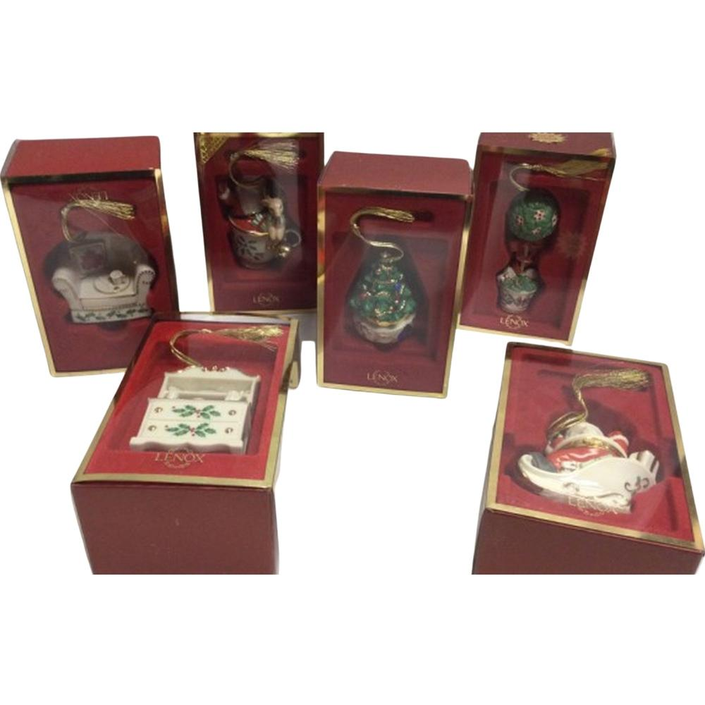 6 Collectible Lenox Hanging Ornaments