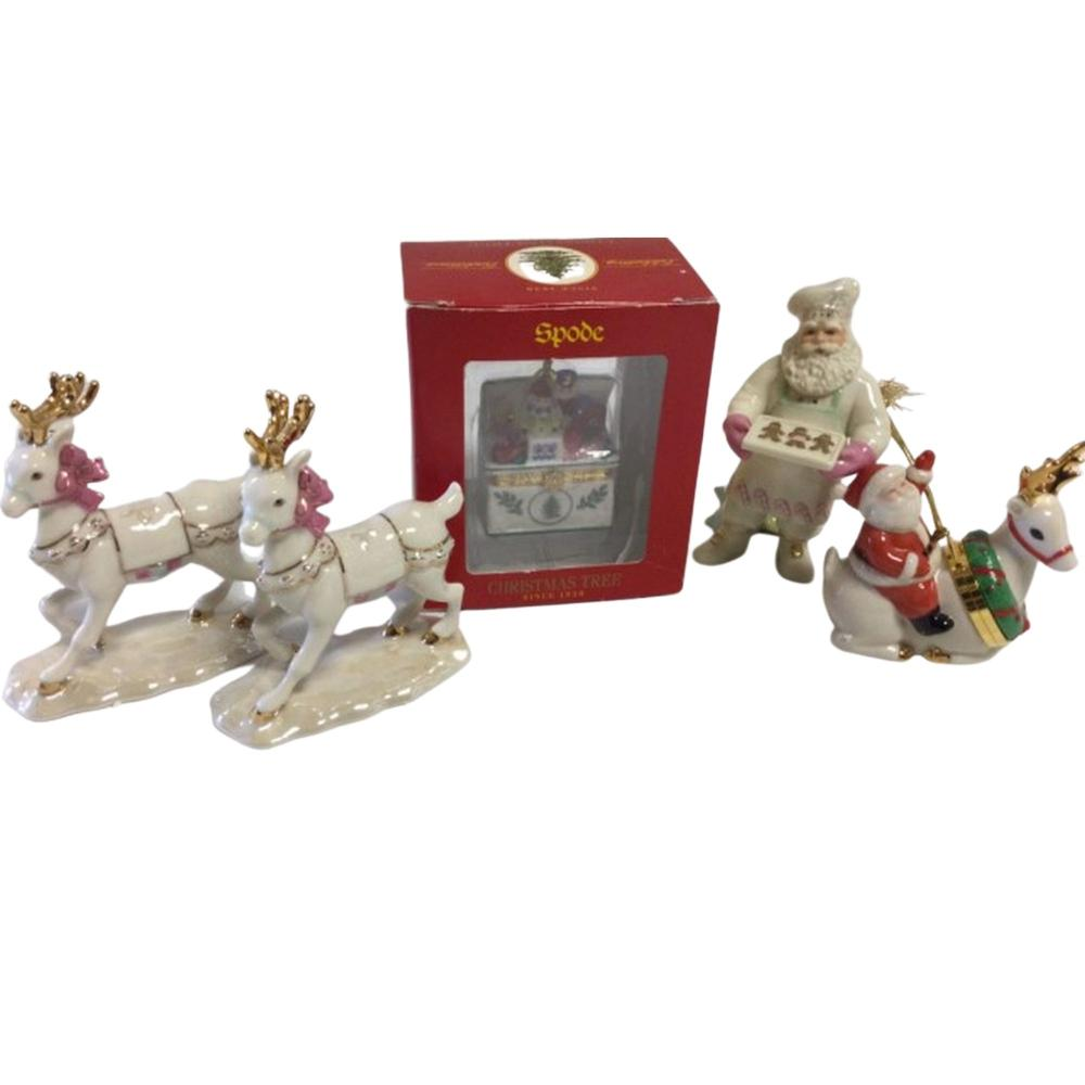 2RARE - LENOX Our Family Holiday Sleigh Reindeer,