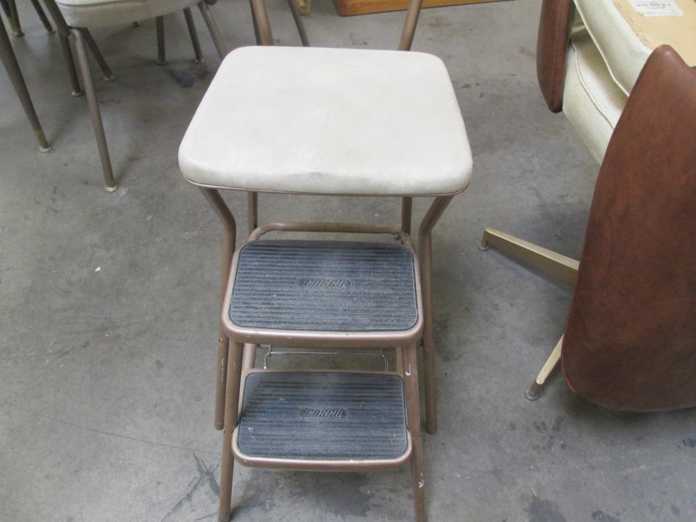 Super Cosco Light Brown Retro Counter Chair Step Stool Ncnpc Chair Design For Home Ncnpcorg