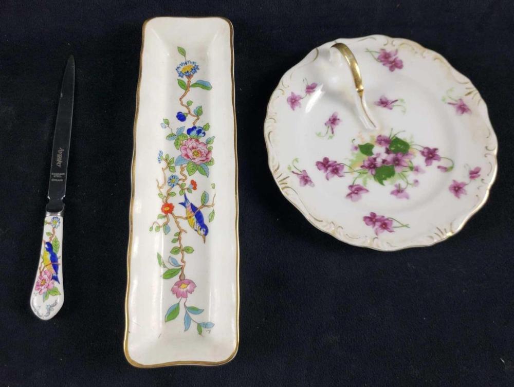 Set of 3 Marked Porcelain Items